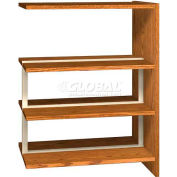 "48"" Double Face Shelving Adder - 36""W x 24""D x 47-1/4""H Oiled Cherry"