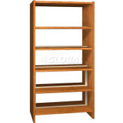 "72"" Double Face Shelving Base - 37""W x 24""D x 71-1/8""H Oak"