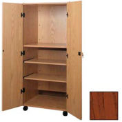 "Video Cabinet - 30-1/4""W x 24-7/8""D x 67-3/8""H Mahogany"