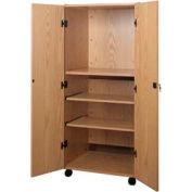"""Video Cabinet - 30-1/4""""W x 24-7/8""""D x 67-3/8""""H Natural Oak"""