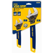 "2 Pc. Adjustable Wrench Set-6"" & 10"""