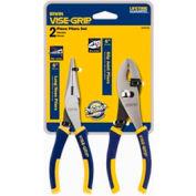 IRWIN VISE-GRIP® 2078702 2 Piece Traditional Plier Set (Long Nose, Slip Joint)