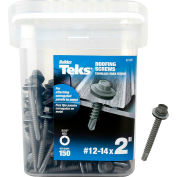 """ITW Teks Roofing Screw - #12 x 2"""" - Hex Washer Head - Drill Point - 21427"""