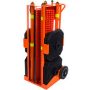 Barrière de sécurité portative IRONguard PSZ-SLM, 100 pi, orange