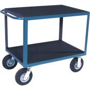 Chariot à poignée standard à matage en vinyle avec roulettes en caoutchouc de8 po,24 x36