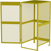 Global Industrial™ Cylinder Storage Cabinet, Vertical Single Door 10 Cylinders, 33W x 40D x 71H