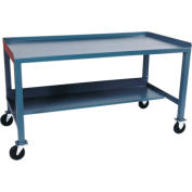 Mobile Steel Workbench - 30 x 60
