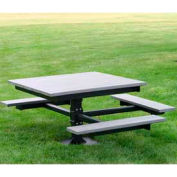 T-Table, Recycled Plastic, 4 ft, Gray, ADA