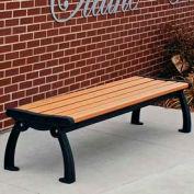 Frog Furnishings Recycled Plastic 5 ft. Heritage Backless Bench, Cedar Bench/Black Frame