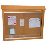 """Grenouille mobilier moyen Message Center, plastique recyclé, deux côtés, pas de messages, cèdre, 36"""" W x 26"""" H"""