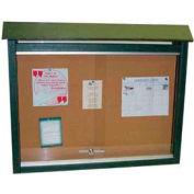 """Grenouille mobilier moyen Message Center, plastique recyclé, deux côtés, pas de message, vert, 36"""" W x 26"""" H"""