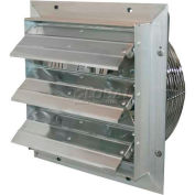 "J&D ES Shutter Fan 16"", 115V, 1/10HP, 1PH, Variable Speed Aluminum Shutters, 10' Cord"