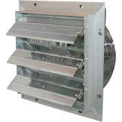 "J&D ES Shutter Fan 24"", 115/230V, 1/2HP, 1PH, Variable Speed, Aluminum Shutters"
