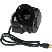 J&D PSC Inflation Blower VBM60A-PC, Round Opening, with Damper Door and Cord, 60 CFM, 120V