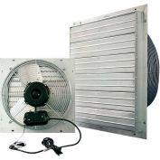"J&D ES Shutter Fan 24"", Indoor/Outdoor, 115V,1PH, 2 Speed, Aluminum Shutters, 9' Cord"