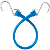 """The Perfect Bungee B18 13"""" Bungee Strap W/Galvanized S Hook End (Overall Length 18""""), Blue - Pkg Qty 6"""