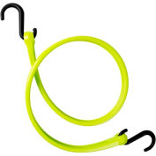 "The Perfect Bungee PBNH36 31"" Bungee Strap With Nylon S Hook Ends (Overall Length 36""), Safety Green - Pkg Qty 4"