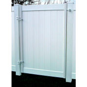 "Adjust-A-Gate II AG20066 Single Gate Privacy Solid Board Fence Gate Frame Kit 72""W x 72""H, White"