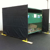 Dumpster Enclosure '3 Sided - 7-1/2' x 7-1/2'