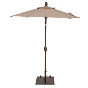 TrueShade® 7' Garden Parasol Umbrella - Push Button Tilt and Crank - Antique Beige