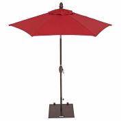 TrueShade® 7' Garden Parasol Umbrella - Push Button Tilt and Crank - Jockey Red