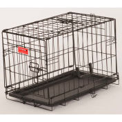 "Lucky Dog 2 Door Dog Training Crate 13""W x 16""H x 22""L, Black"