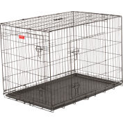 "Lucky Dog 2 Door Dog Training Crate 28""W x 31""H x 42""L, Black"