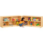 "Jonti-Craft® 10 plateau Toddler Mobile Fold-N-Lock sans plateau, 96"" W x 15 «D x 24-1/2» H, contreplaqué de bouleau"