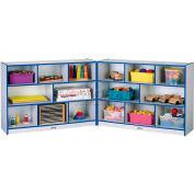 Jonti-Craft® Super-entreprises Mobile Fold-N-Lock, sans plateau, 96 x 15 x 35-1/2, gris bord stratifié, bleu