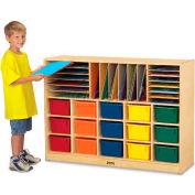 """Jonti-Craft® sectionnelle Cubbie Mobile avec plateaux colorés, 48"""" W x 15 «D x 35-1/2» H, contreplaqué de bouleau"""