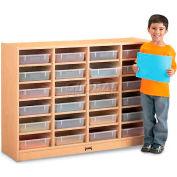 """Jonti-Craft® 24 plateau Mobile Cubbie sans papier-plateaux, 48"""" W x 15 «D x 35-1/2» H, érable laminé"""