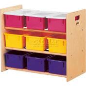"""Jonti-Craft® 9 support stockage sans plateaux, 28-1/2"""" Wx15 «Dx24» H, contreplaqué de bouleau"""