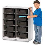 """Jonti-Craft® 10 baignoire Mobile Cubbie w/Tubs, 28-1/2"""" Wx15 «Dx35-1/2» H, bord noir stratifié gris"""