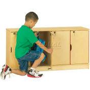 "Jonti-Craft® Stacking Lockable Lockers, Single Stack, 48-1/2""W x 15""D x 23-1/2""H, Birch Plywood"