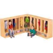 "Manteau de Jonti-Craft® Toddler coin Locker w/Clear plateau, 24 ""W x 17-1/2 «D x 35» H, contreplaqué de bouleau"