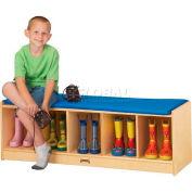 """Jonti-Craft® Kid banc Locker, 5 large, chameau coussin, 48"""" W x 15 «D x 16» H, contreplaqué de bouleau"""