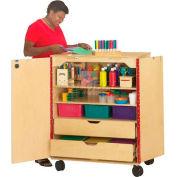 "Jonti-Craft 9510JC Mobile Supply Cabinet 36""W x 24""D x 46""H, Brich, Assembled"