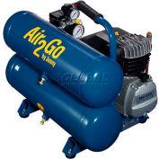 Jenny® A2G246-HC4V-115/1, 2HP, Hand Carry, 4.8 Gallon, Twin Stack, 125 PSI, 4 CFM, 1-Phase 115V