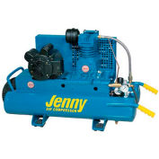 Jenny® K15A-8P-115/1,1.5HP,Wheelbarrow Compressor,8 Gallon,Horiz.,125 PSI,6.5 CFM,1-Phase 115V