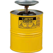 Justrite Plunger Can, 1-Gallon, Yellow, 10318