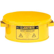 Justrite Bench Can, 1-Gallon, Yellow, 10385