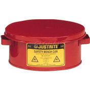 Justrite Bench Can, 2-Gallon, Red, 10575