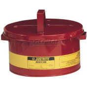 Justrite Bench Can, 3-Gallon, Red, 10775