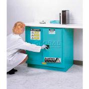 """Justrite 19 Gallon 2 Door, Self-Close, Fume Hood Acid Cabinet, 30""""x21-5/8""""x35-3/4"""", Lgt. Neutral"""