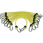 "K-Tool KTI-73830 Bungee Cords General Purpose 3/8"" X 18"" - 10 Pack, Yellow"