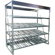 """Galvanized Flow Rack Starter 60""""W x 60""""D x 96""""H with 4 Levels"""