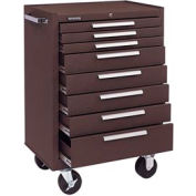 "Kennedy® 378XB K1800 Series 27""W X 18""D X 39""H 8 Drawer Brown Roller Cabinet"