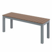 KFI Outdoor Bench - Mocha with Silver Frame - Ivy Series
