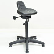 Interion® Sit Stand Stool - Polyurethane - Black