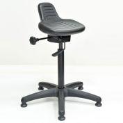 Interion® Ergonomic Standing Stool, Black, 250 Lb. Capacity